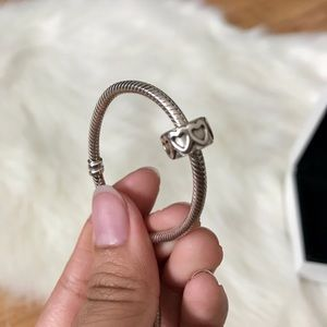 PANDORA Heart Band Spacer Charm